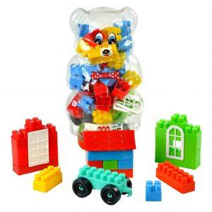 Mini Blocks in Figured PET Bottle